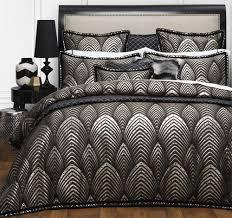 DaVinci Lancelot Black Queen Quilt Cover Set - 3 Pce - The Linen ... & DaVinci Lancelot Black Queen Quilt Cover Set - 3 Pce Adamdwight.com