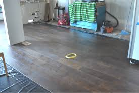 partly installed wood floors