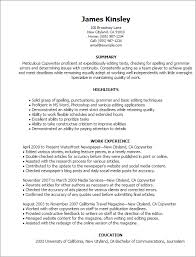 Resume Templates: Copywriter