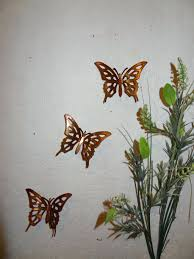 wall arts nature inspired metal butterfly wall art trio garretts on nature inspired metal wall art with wall arts nature inspired metal butterfly wall art trio garretts