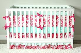 mint crib bedding hot pink and mint baby girl crib bedding mint elephant crib bedding