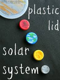 best solar system exploration ideas about solar  craft a solar system of recycled plastic lid planets for hands on science play for kids