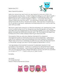 Parent Letters From Teachers Template Student Teacher Letter To