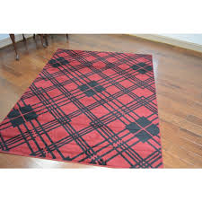 lodge plaid scottsdale red area rug 73910x93910 red plaid rag rugs