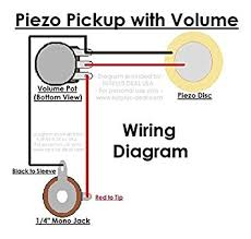 amazon com 27mm piezo pickup kit for cigar box guitars & acoustic Volume Pot Wiring Diagram pickup kit for cigar box guitars & acoustic instruments diy do it yourself components include 1 4\