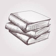 dibujo vectorial de la pila de libros foto de archivo