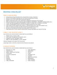 Moving Checklist Template Custom House Moving Checklist Sample Free Download
