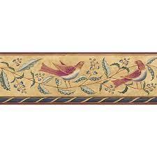 Brewster Feathered Folk Wallpaper ...