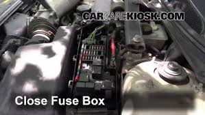 replace a fuse volvo s volvo s t l cyl 6 replace cover secure the cover and test component