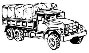 Small Picture Army Car Military Truck Coloring Pages car and truck coloring