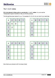 Multiplication Tables Worksheet Worksheets for all | Download and ...