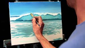 how to paint a beach wave with oil paints