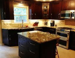Mocha Shaker Kitchen Cabinets Beautiful Mocha Maple Shaker Cabinets And Exotic Normandy Granite