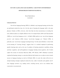 Writing Literature Review Sample Advantages Of Selecting Essay In      Sample of review of related literature in research