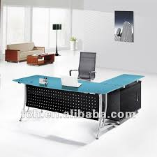 office desk glass top. Blue Glass Top Modern Office Furniture Table Fohj 8058 With Desk Renovation