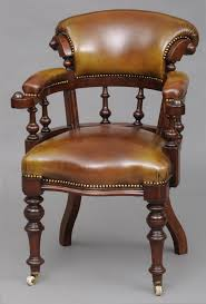 learn more at susansilverantiquescom antique leather office chair