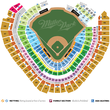 Seat Number Brewers Seating Chart 49 For Milwaukee Brewers Game With Beers And Buffet Up To 69 Value Three Seating Options And Five Games Available