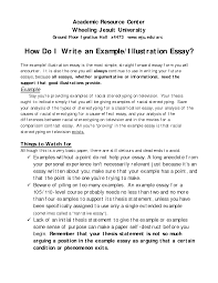 Academic Say Introduction Example Template Examples