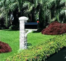 stone mailbox designs. Faux Stone Mailbox Post Landscape Designs Eye Level Gray Cast .