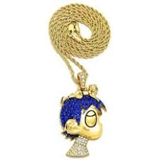lil uzi vert necklace new iced out 24 inch rope chain