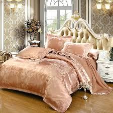 2016 luxury cotton embroidery tencel satin silk jacquard bedding set pink gold purple duvet covergold comforter