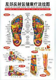 Foot Chart 50 Pcchinese Chart Foot Reflective Zones Therapy Reflexology Massage Wall Poster Ebay