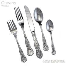 wallace queens stainless steel flatware 5pc place setting