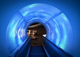 futuristic lighting. Light Architecture Escalator Color Blue Lighting Modern Futuristic Tunnel M