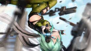 Wallpaper : gun, anime, 3D, Sword Art ...