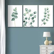 wall26 3 Panel Canvas Wall Art - <b>Watercolor</b> Style <b>Tropical Plant</b>
