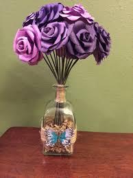 Paper Flower Bouquet In Vase Paper Flowers Paper Flower Bouquet Paper Roses Gifts For