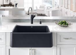 black kitchen sinks and faucets. BLANCO IKON Apron Front Sink Black Kitchen Sinks And Faucets N