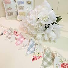 Mini Bunting, Handmade Using Cath Kidston - Laura Ashley fabrics and Lace:  Amazon.co.uk: Kitchen & Home
