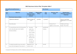 Business Action Plan Business action plan sample professional example template 1
