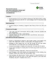 sap bw resume samples fresh sample resume for sap mm consultant or sample sap basis resume