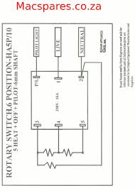 rotary cam switch wiring diagram chromatex Time Delay Relay Wiring Diagram wiring diagrams stoves switches and thermostats macspares brilliant rotary cam switch diagram