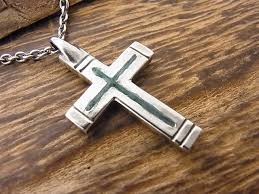 inlay cross necklace