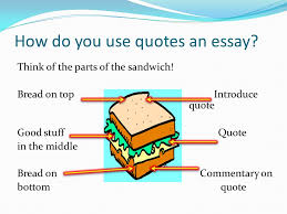 why use quotes in an essay whom do you trust why use quotes in  how do you use quotes an essay think of the parts of the sandwich