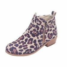 Details About Women Girls Ankle Boots Square Shape Chunky Low Heels Spring Autumn Shoes