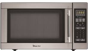 1 6 cubic feet 1100 watt stainless steel countertop microwave transitional microwave ovens by magic chef