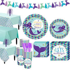 Nav Item for Wishful Mermaid Basic Party Kit 24 Guests Image #1 | City Canada