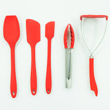 silicone kitchen tools red