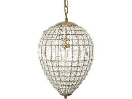 blenheim teardrop crystal and gold effect chandelier small