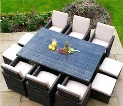 rattan outdoor dining furniture cube rattan garden furniture set chairs sofa table outdoor patio wicker seats rattan outdoor dining furniture