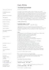 Cv Template Junior Accountant Resume Accounting Templates