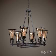 uttermost frisco 6 light metal chandelier