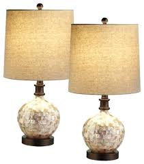 pair of table lamps round table lamps in shell pair table lamps round pair of table