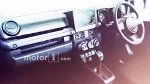 2018 suzuki jimny interior. exellent jimny 2018 suzuki jimny leaked interior in suzuki jimny indian autos blog