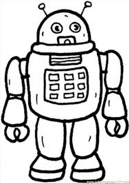 Small Picture Free Printable Robot Coloring Pages For Kids