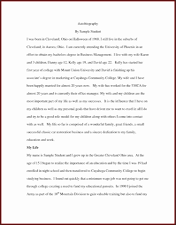 how to an essay autobiography for high school students ydhlf  how to an essay autobiography for high school students ydhlf inspirational 17 example biography a highschool